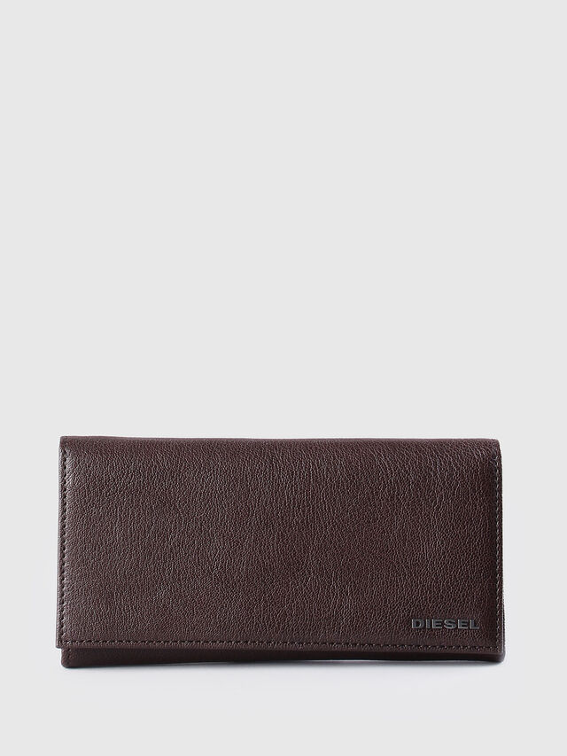 Diesel - 24 A DAY, Brown - Continental Wallets - Image 1