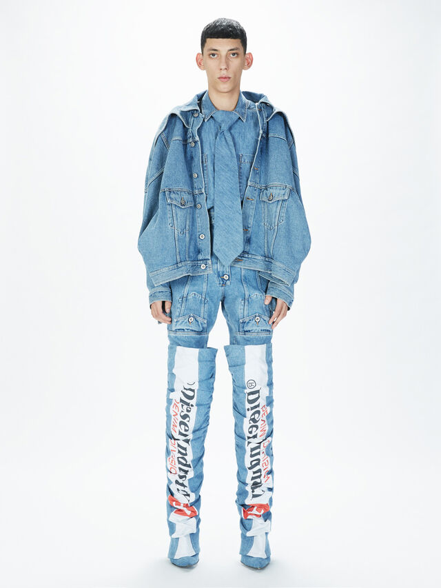 Diesel - SOJK01, Light Blue - Jackets - Image 7