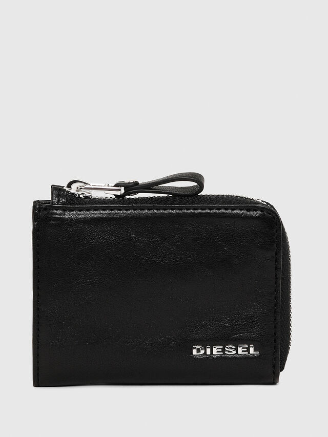 Diesel - L-PASSME, Black Leather - Small Wallets - Image 1