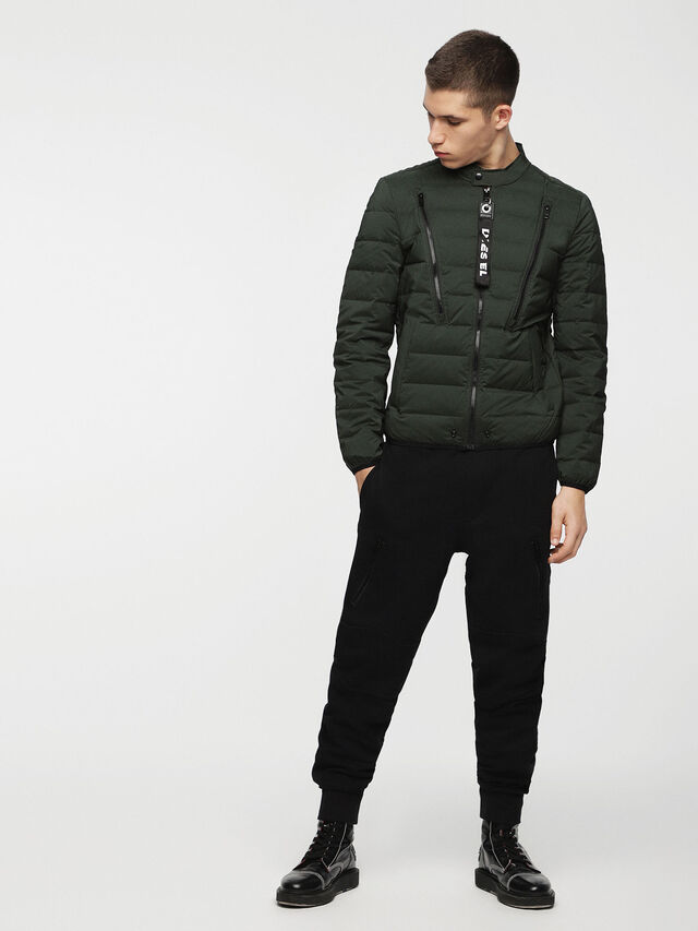 Diesel - W-HANKS, Dark Green - Winter Jackets - Image 6