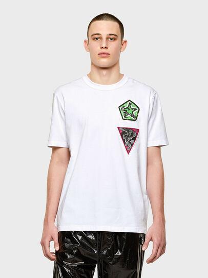 Diesel - T-JUBIND-SLITS-E1, White - T-Shirts - Image 1