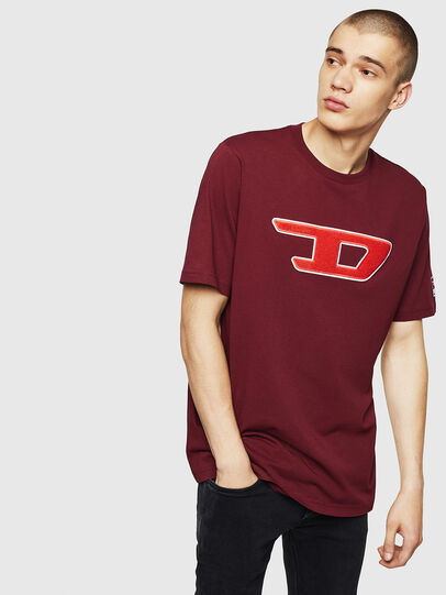 Diesel - T-JUST-DIVISION-D, Bordeaux - T-Shirts - Image 1