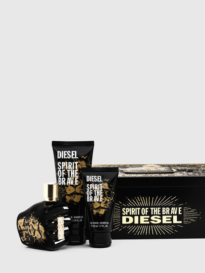Diesel - SPIRIT OF THE BRAVE 75ML METAL GIFT SET, Black - Only The Brave - Image 1