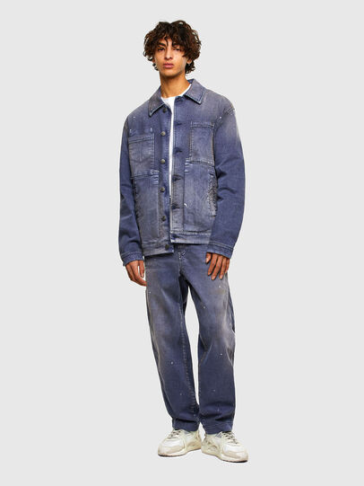 Diesel - D-ANTONY-SP, Medium blue - Denim Jackets - Image 6