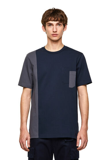 Green Label T-shirt with two-tone panels