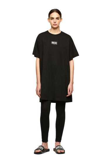 T-shirt dress with small logo print