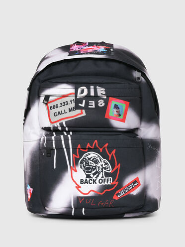 Backpack with graffiti print