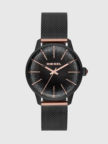 Castilla three-hand watch in black stainless steel