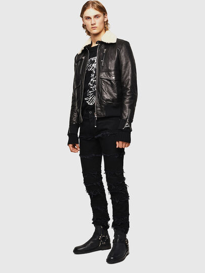 Diesel - L-VINT, Black - Leather jackets - Image 6