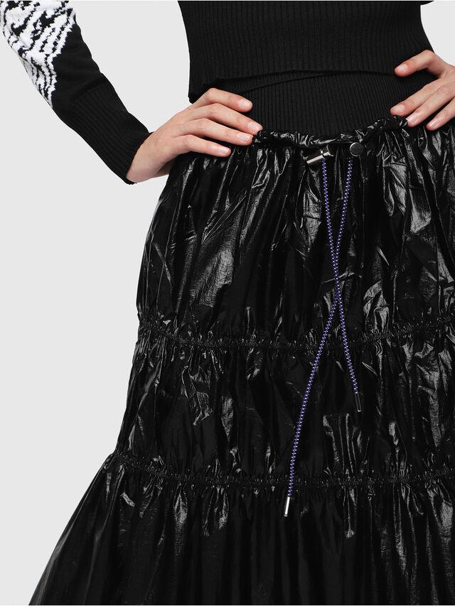 9e7110a534 O-LIN Women: Tiered nylon maxi skirt   Diesel