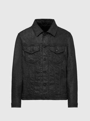 Trucker jacket in used-effect JoggJeans®