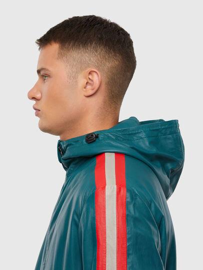 Diesel - L-MATHIAS, Water Green - Leather jackets - Image 3