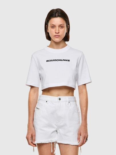 Diesel - T-RECROP, White - T-Shirts - Image 1