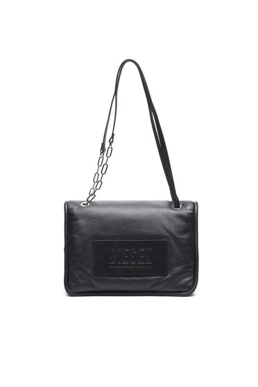 Convertible bag in padded leather