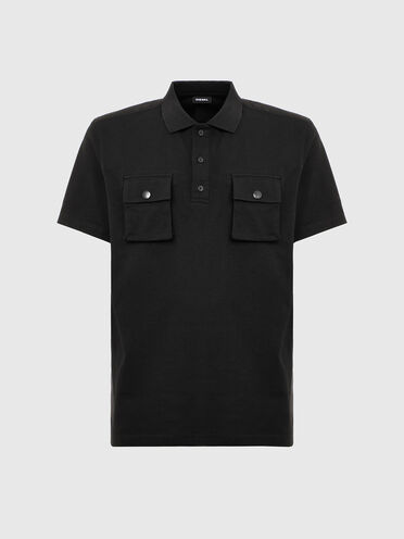 Polo shirt with utility pockets