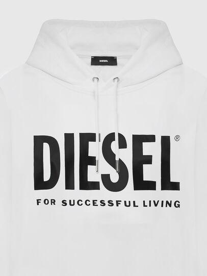 Diesel - F-ANG-HOOD-LOGO, White - Sweaters - Image 3