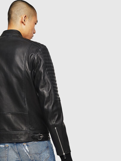 Diesel - L-SHIRO, Black Leather - Leather jackets - Image 5