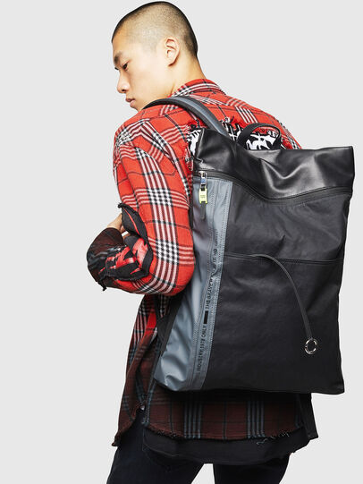 Diesel - L-TOLLE BACK, Black/Blue - Backpacks - Image 6