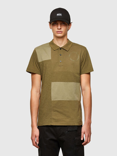Diesel - T-POLWORK, Military Green - Polos - Image 1