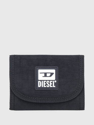 Micro wallet in washed canvas