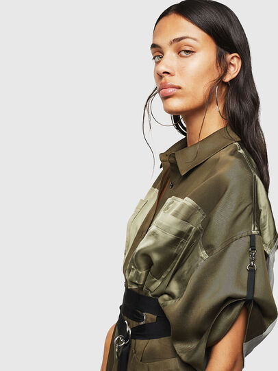 Diesel - D-TIEP, Military Green - Dresses - Image 3