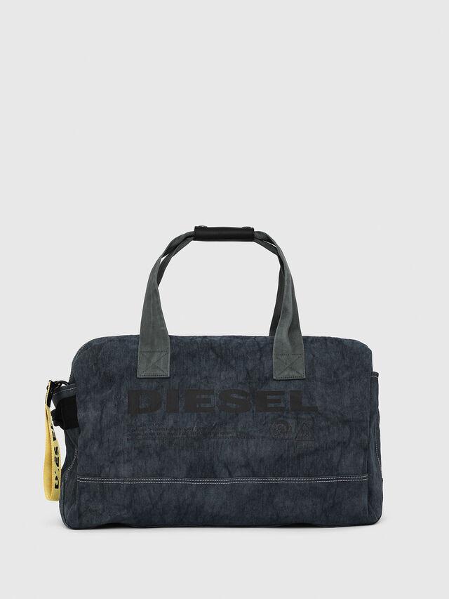 Diesel - D-THISBAG TRAVEL BAG, Blue Jeans - Travel Bags - Image 1