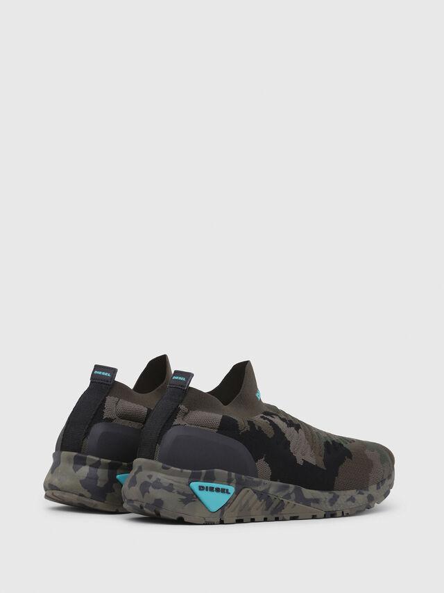 Diesel - S-KB ATHL SOCK, Green Camouflage - Sneakers - Image 3