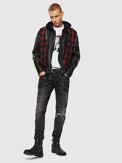Diesel - L-NORMAN, Black - Leather jackets - Image 7
