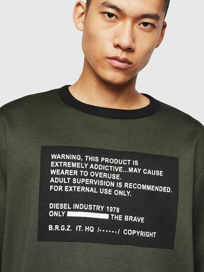 Diesel - S-BAY-MESH, Dark Green - Sweaters - Image 3