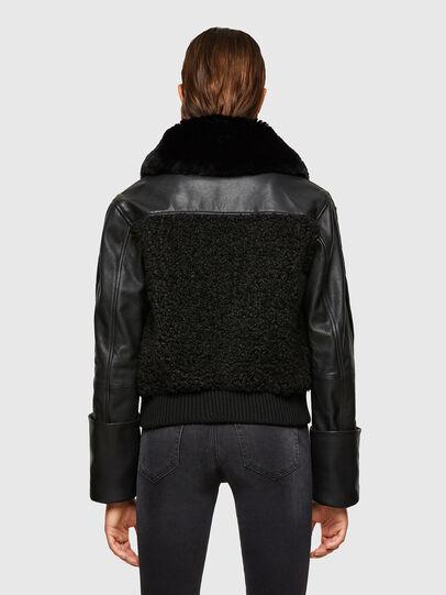 Diesel - L-CELIA-TEDDY, Black - Leather jackets - Image 2