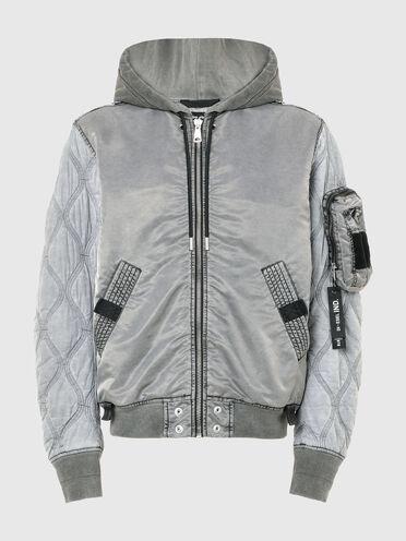 Garment-dyed bomber jacket