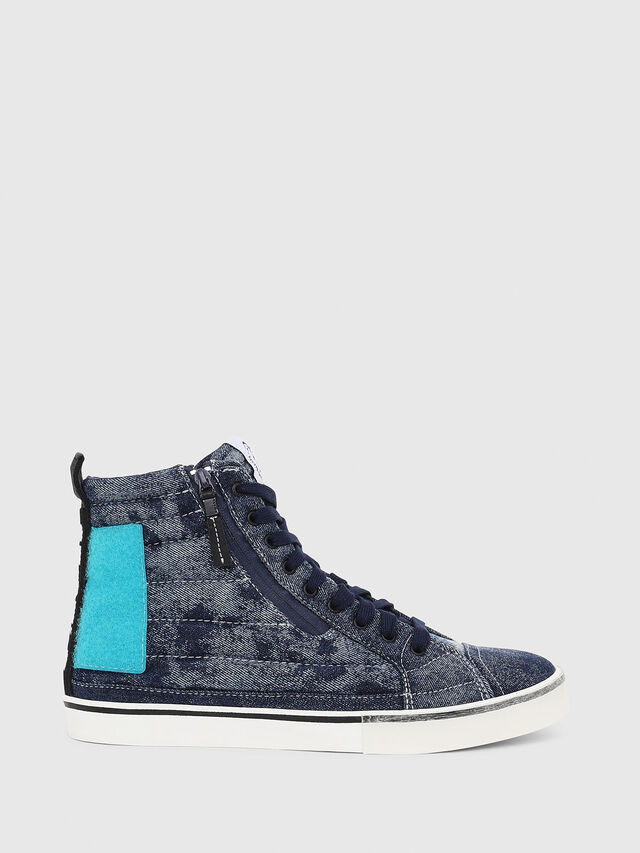 Diesel - D-VELOWS MID PATCH, Blue - Sneakers - Image 1