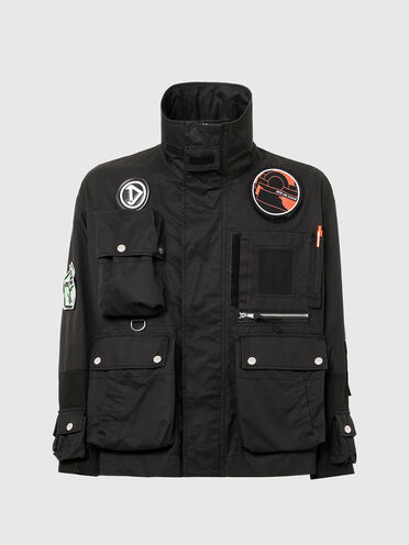 Panelled jacket with 3D pockets