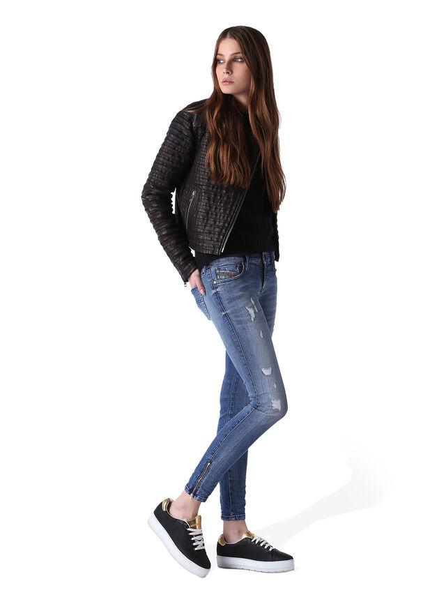 Diesel - Skinzee Low Zip 0847U, Medium blue - Jeans - Image 5