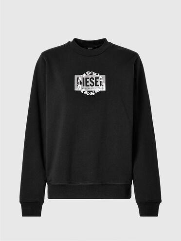 Sweatshirt with double logo