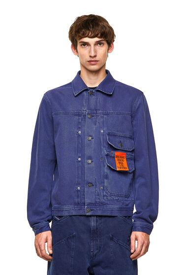 Jacket in overdyed denim