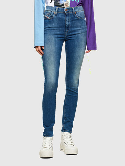 Diesel - D-Roisin High 009PE, Medium blue - Jeans - Image 1