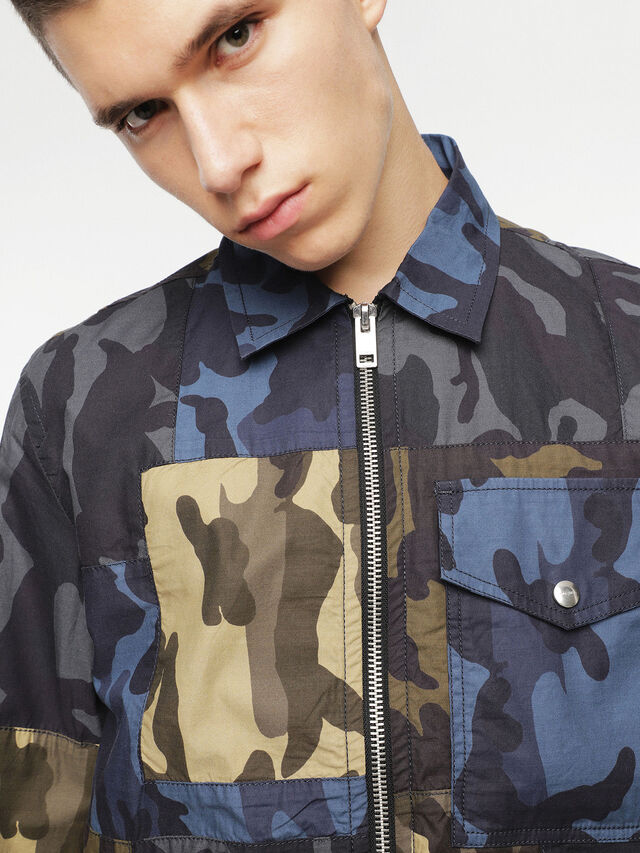 Diesel - J-SYNTHY, Green Camouflage - Jackets - Image 3