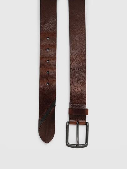 Diesel - B-LINE, Brown Leather - Belts - Image 3