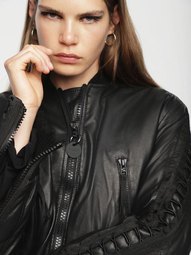 Diesel - L-WICA, Black - Leather jackets - Image 8