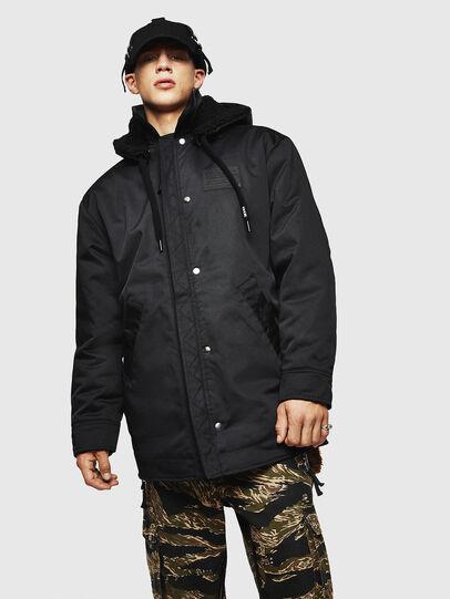 Diesel - W-PELSTIC, Black - Winter Jackets - Image 1