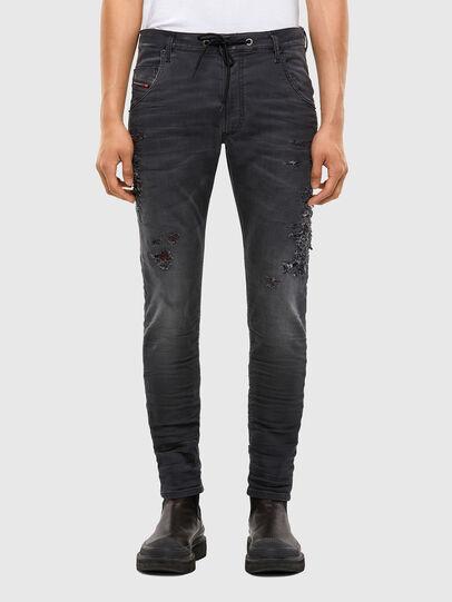 Diesel - Krooley JoggJeans 069RA, Black/Dark grey - Jeans - Image 1