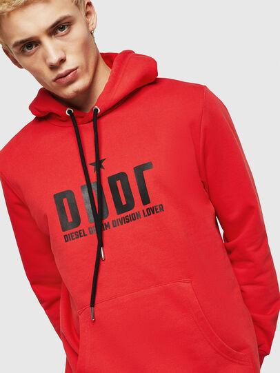 Diesel - S-GIR-HOOD-A1, Fire Red - Sweaters - Image 3