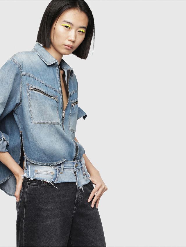 Diesel - DE-BEAVER, Blue Jeans - Denim Shirts - Image 4