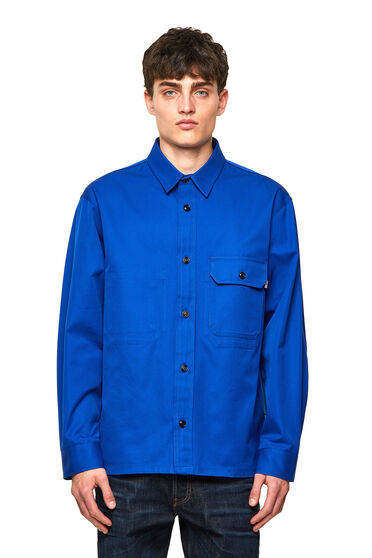 Green Label twill overshirt