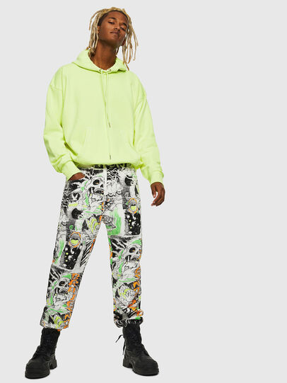 Diesel - S-ALBY-FLUO, Yellow Fluo - Sweaters - Image 7