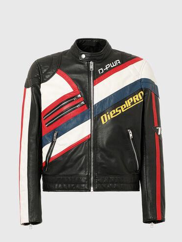 Leather motocross jacket