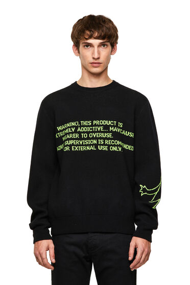 Pullover in wool-blend jacquard