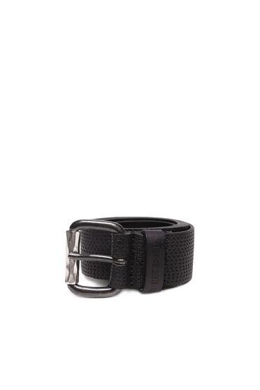 Black supple leather belt