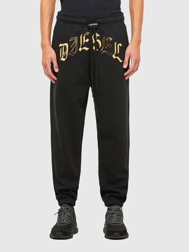 Sweatpants with metallic print